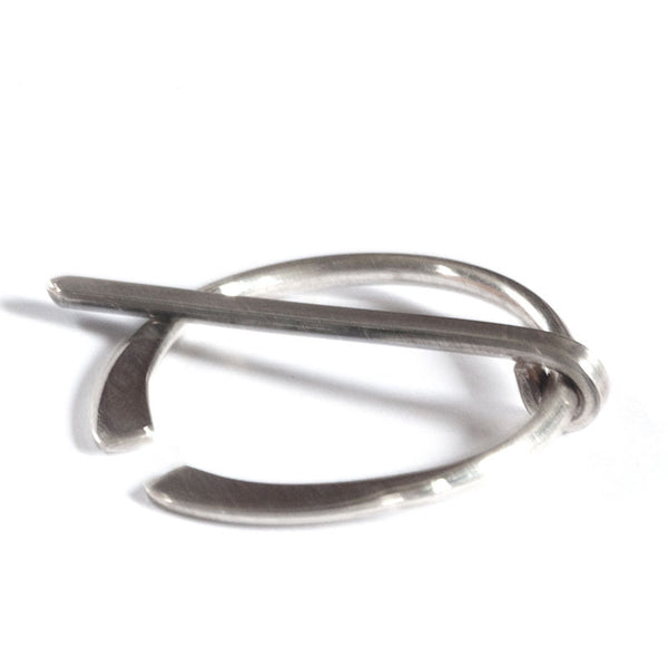 Little silver penannular pin
