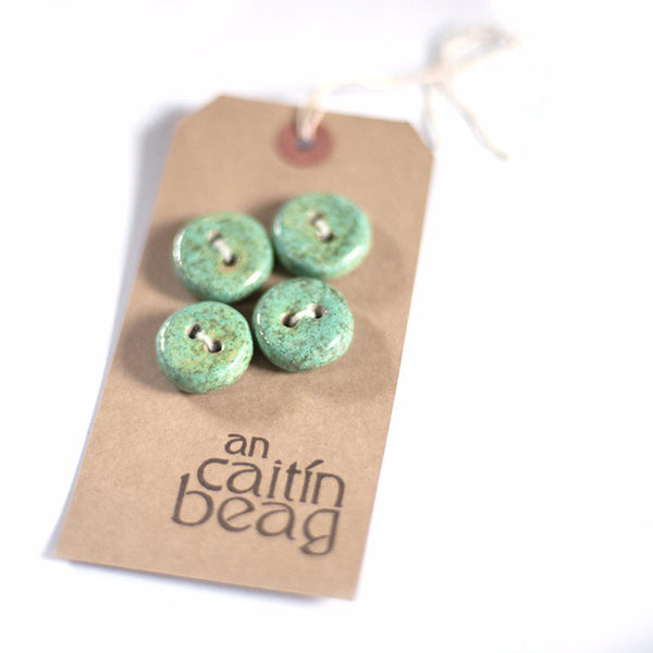 Speckled turquoise buttons