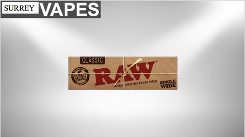 Raw Classic Single Wide Rolling Papers - Surrey Vapes | The Best Vape Store In Surrey, BC