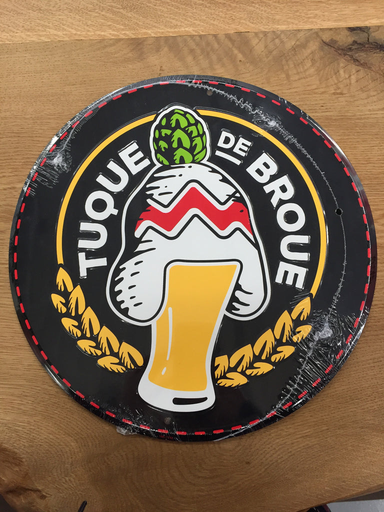 "Enseigne en fer | Tin Sign (12"") - Brasserie Tuque de Broue Brewery Inc."
