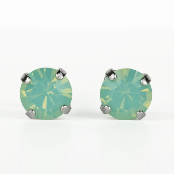 Mariana Rhodium Stud Earrings in Pacific Opal