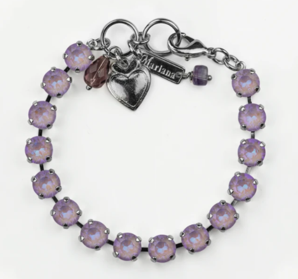 Sun-Kissed Lavender Bracelet Rhodium Plated