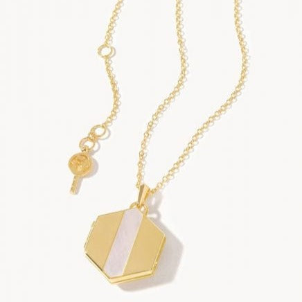 Spartina 449 Gold Hex Locket Necklace