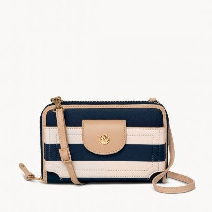 Spartina 449 Navy Stripe Multi Phone Crossbody