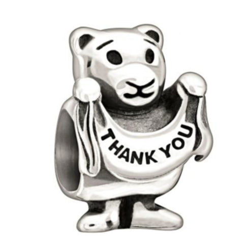 Chamilia - Thank You Beary Much Sterling Silver Charm