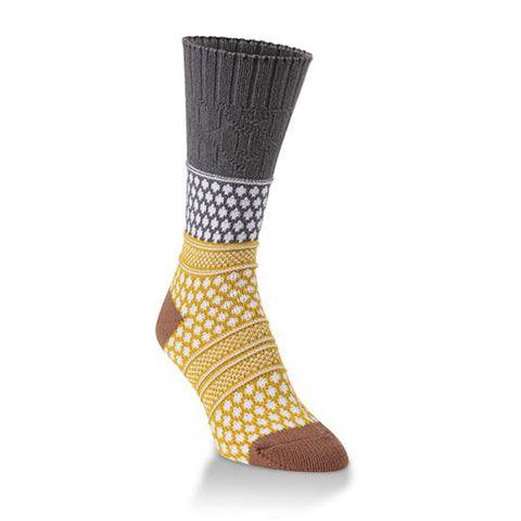Gallery Textured Crew Sock - Quiet Shade