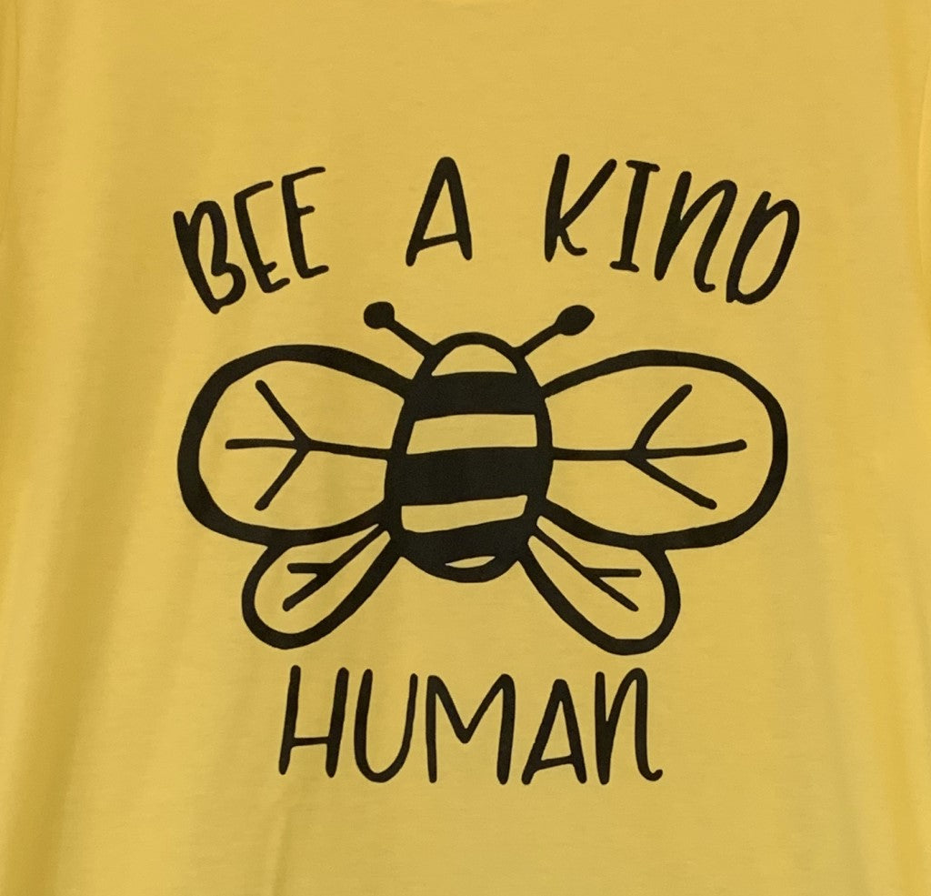 Bee a Kind Human Tee Yellow
