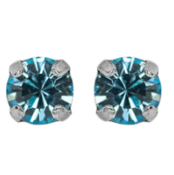 "Mariana 1425 Petite ""Aquamarine"" March Stud Earrings E-1425-202-SP2"