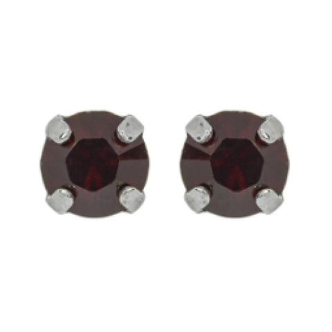 "Mariana 1425 Petite ""Garnet"" January Stud Earrings E-1425-241-SP2"