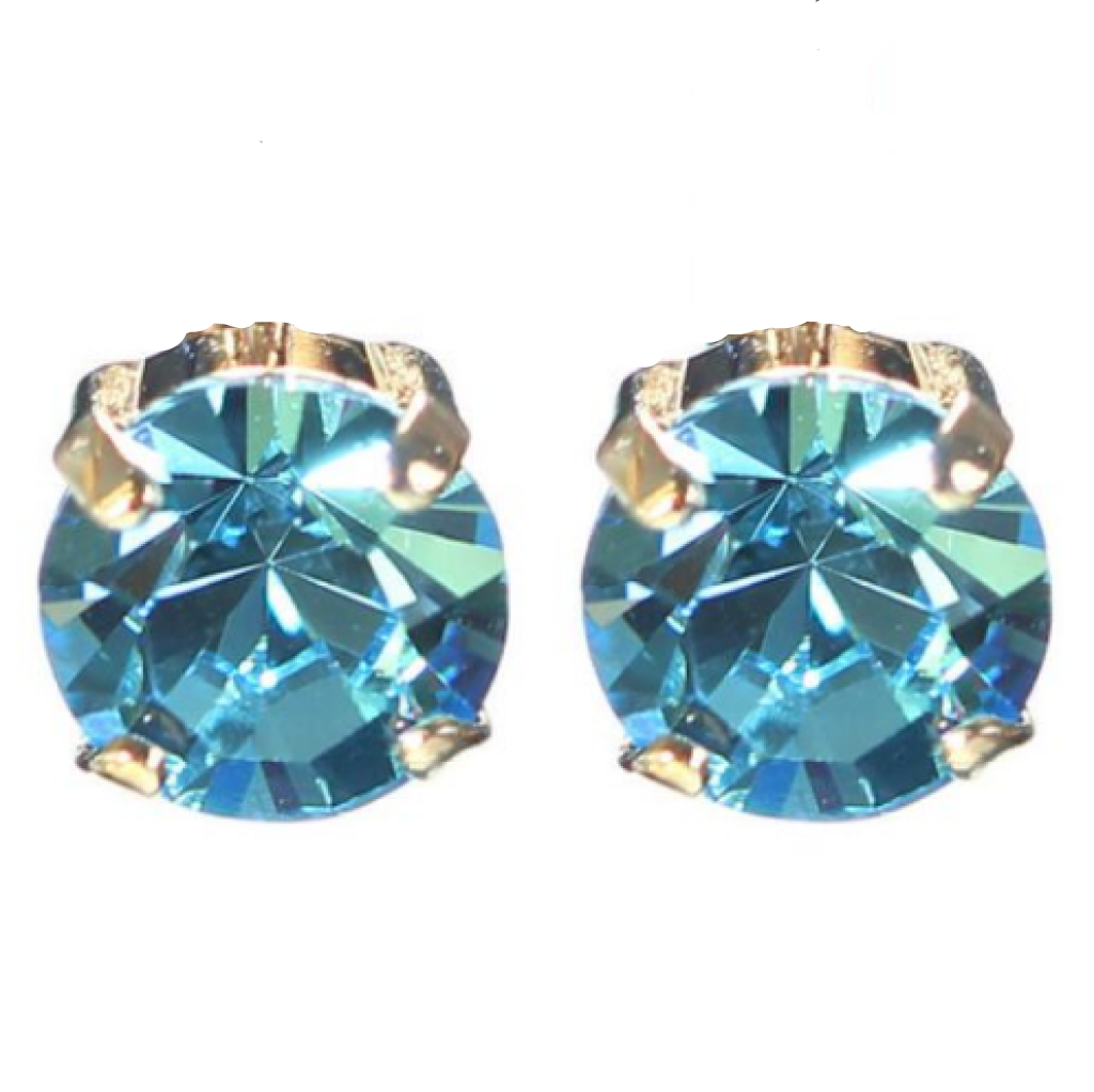 "Mariana 1440 ""Aquamarine"" March Stud Earrings E-1440-202-SP2"