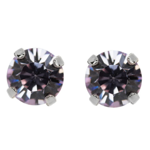 Mariana 1440 Violet Crystal Stud Earrings E-1440-371-SP2