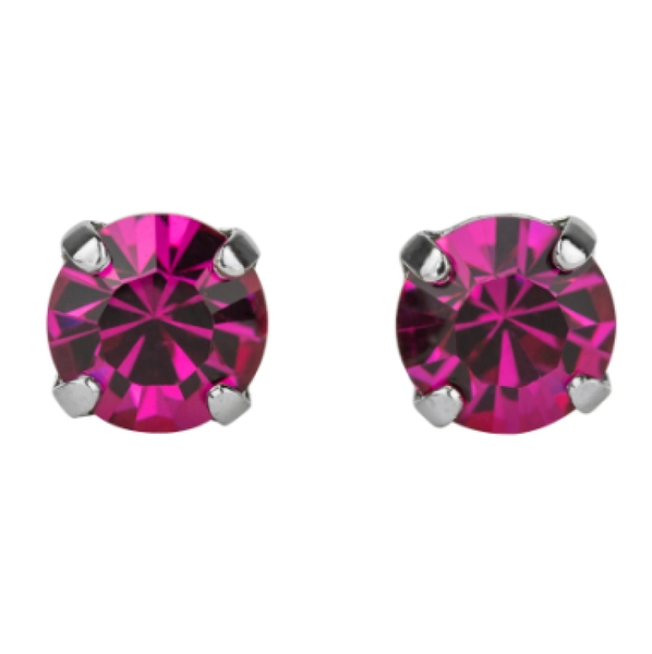 Mariana 1440 Fuchsia Stud Earrings E-1440-502-SP2