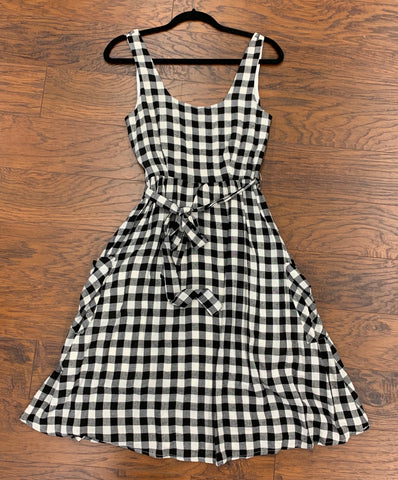 Black Checkered Sun Dress