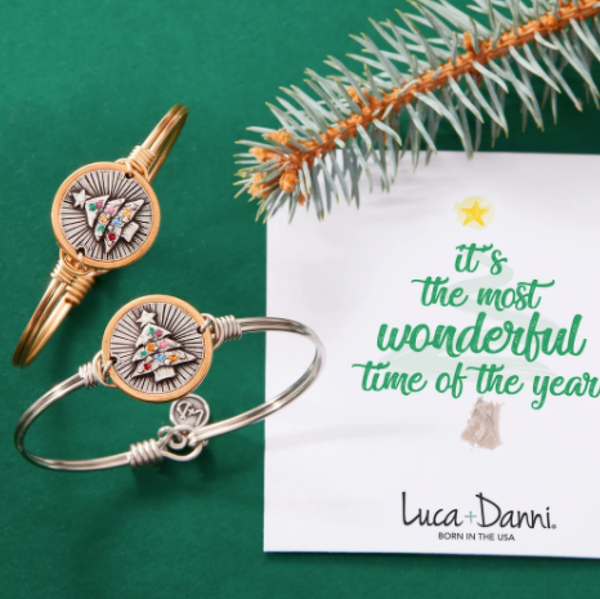 Luca & Danni Holiday Tree Bangle Bracelet