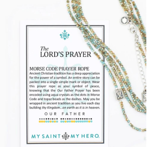 The Lord's Prayer Morse Code Prayer Necklace