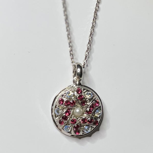 "Mariana 5059/5 Tree of Life Necklace ""Ruby"" and Clear Crystal Rhodium Plated"