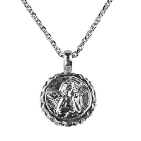 "Mariana 5212 Guardian Angel Necklace ""Fern"" Silver Plated N-5212-2143-SP"