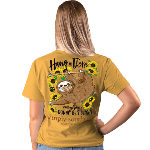 Simply Southern Hang In There Covid-19 Mustard Short Sleeve T-Shirt