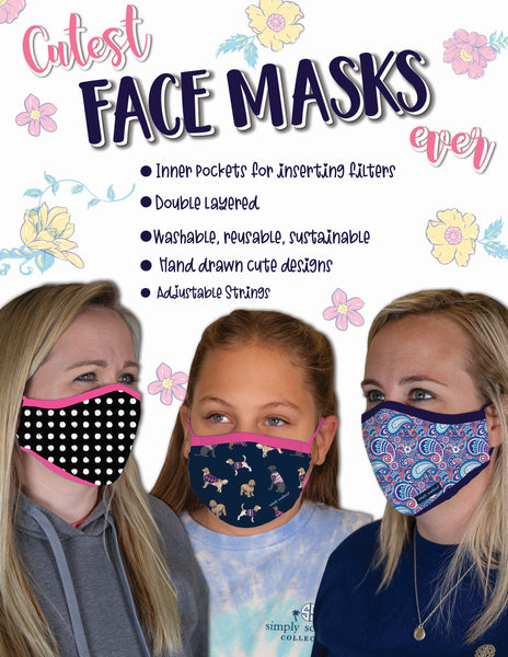 Simply Southern Youth Personal Protective Face Masks