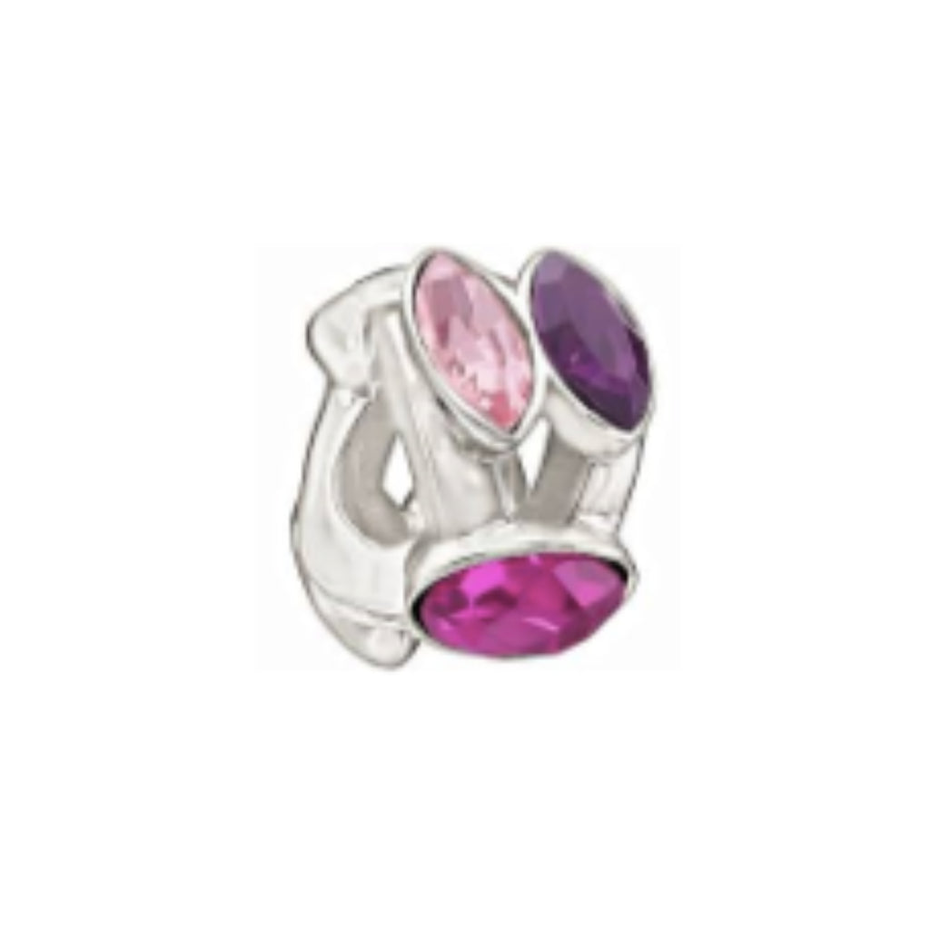 Chamilia Charm Splendid Marquis w/ Pink & Purple Swarovski Elements 2083-0459