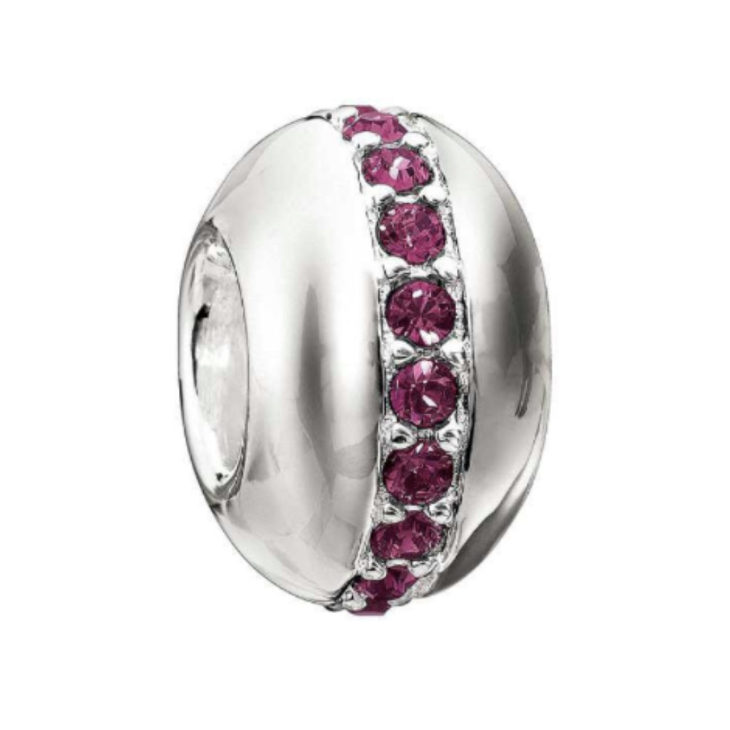 Chamilia Sterling Silver & Amthyst Wink Bead 2083-0244