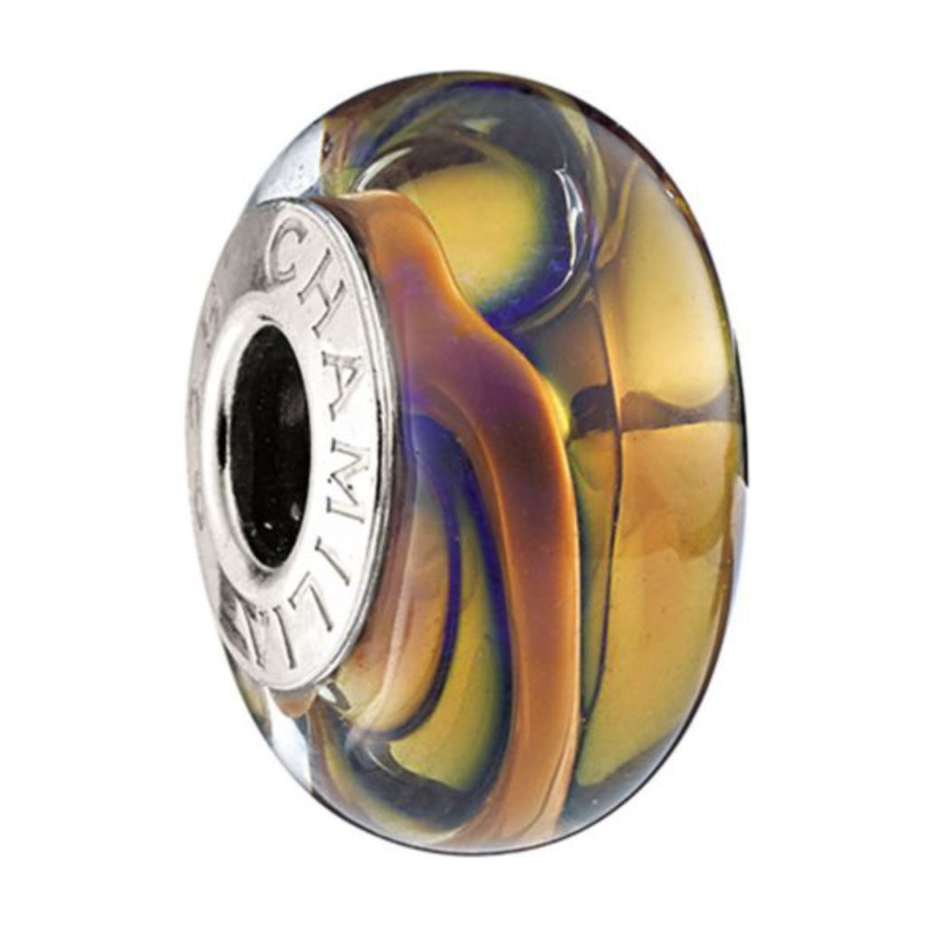 Chamilia - 2116-0070 Sterling Silver 24k Collection Royal Gold Murano Bead