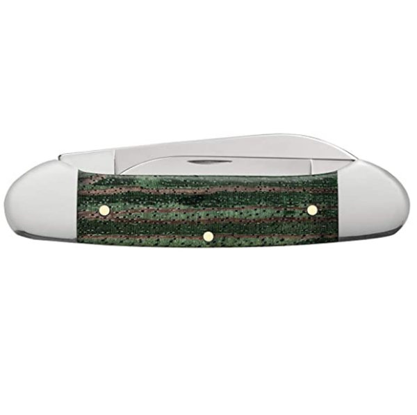 Case Green Zebra Wood Canoe 70523