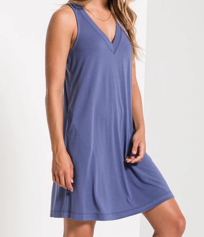 Z Supply The City Tank Dress Coastal Blue