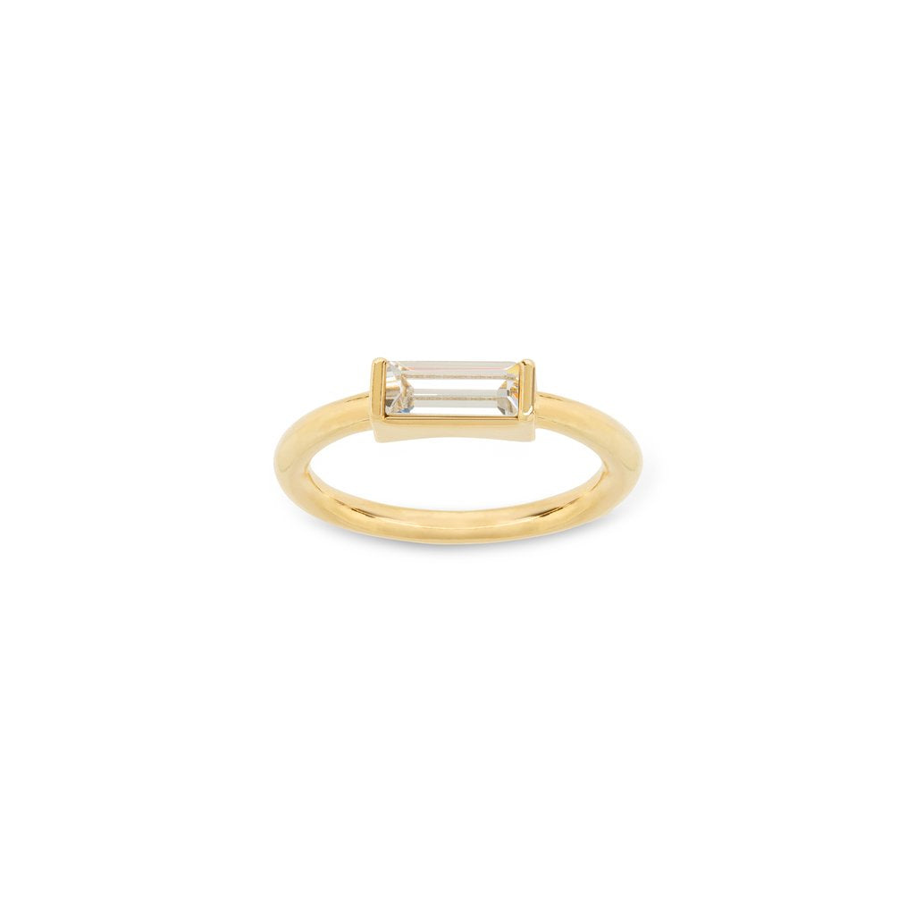 Luca & Danni Mini Hudson Ring in Crystal - Gold