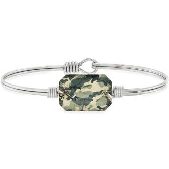 Luca & Danni Dylan Green Camo Bangle Bracelet