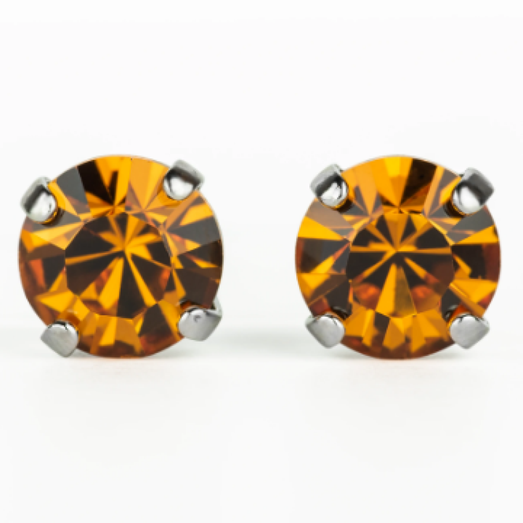 "Mariana 1440 ""Topaz"" November Stud Earrings E-1440-203-SP2"