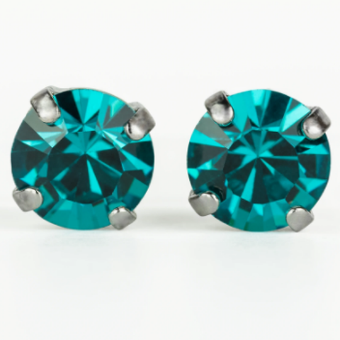 "Mariana 1440 ""Blue Topaz"" December Stud Earrings E-1440-229-SP2"