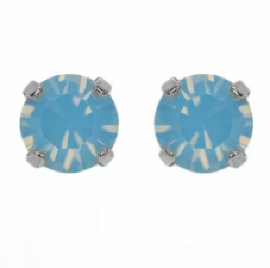 Mariana 1440 Blue Opal Stud Earrings E-1440-285-RO2