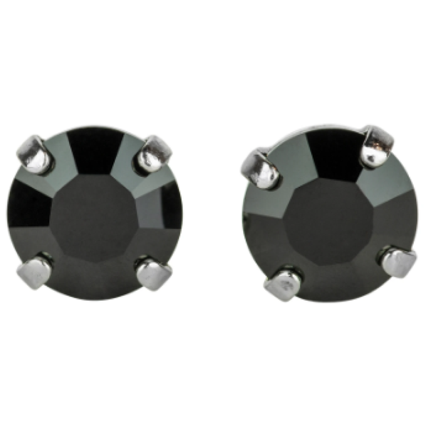 Mariana 1440 Jet Black Stud Earrings E-1440-280-RO2