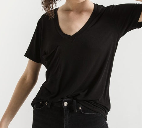 Z Supply Sleek Jersey Pocket Tee