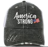 Katydid Women's Trucker Hat America Strong - Gray