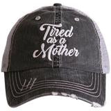 Katydid Women's Trucker Hat Tired as a Mother  - Gray
