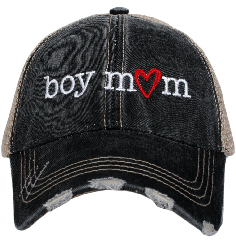Katydid Women's Trucker Hat Boy Mom  - Gray