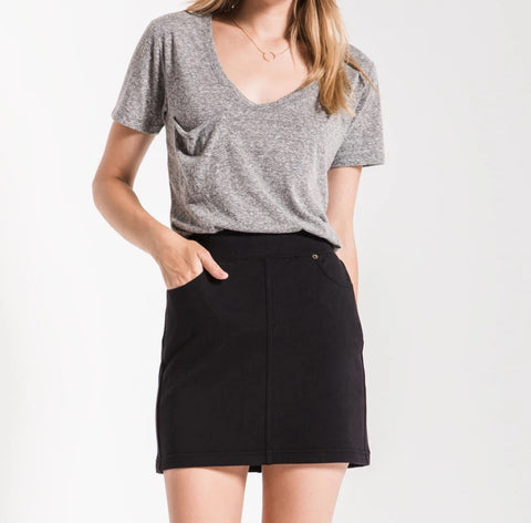 Z Supply Knit Mini Skirt Black