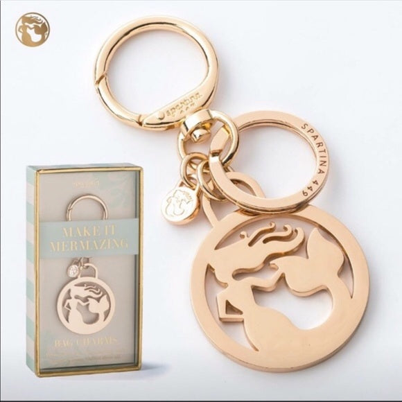 Spartina 449 Gold Mermaid Keychain