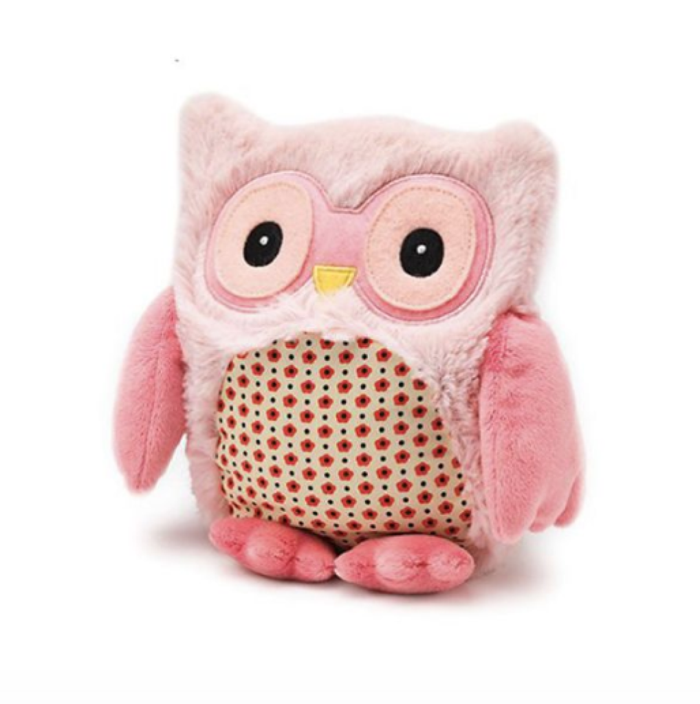 "Intelex Warmies Plush 9"" Hooty Pink"