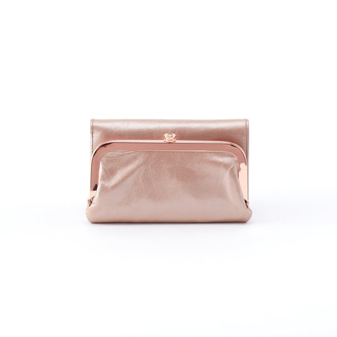 Hobo Riva Metallic Leather Wallet
