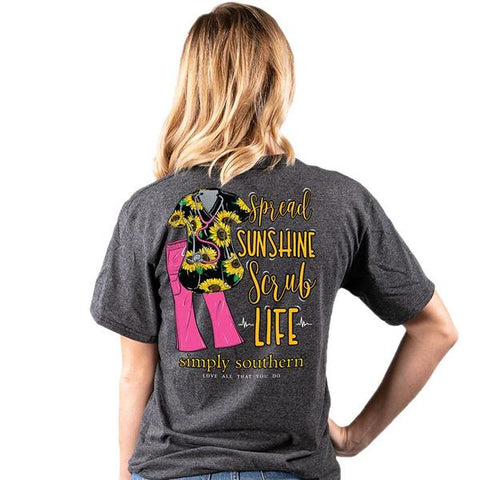 Simply Southern Scrub Life Sunshine Short Sleeve T-Shirt