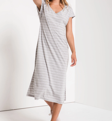 Z Supply Stripe Midi Drop Dress