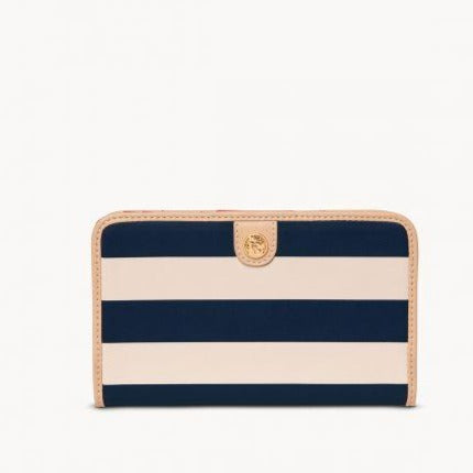 Spartina 449 Navy Stripe Snap Wallet