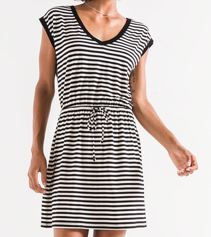 Z Supply Striped Shirred Dress