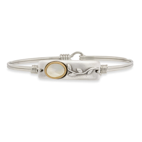 Luca + Danni Flower Mother of Pearl Bangle Bracelet