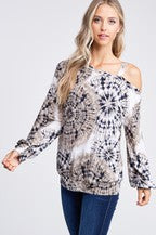 SALE *** LS Top Boat Neck/Cut Out Shoulder S-XL