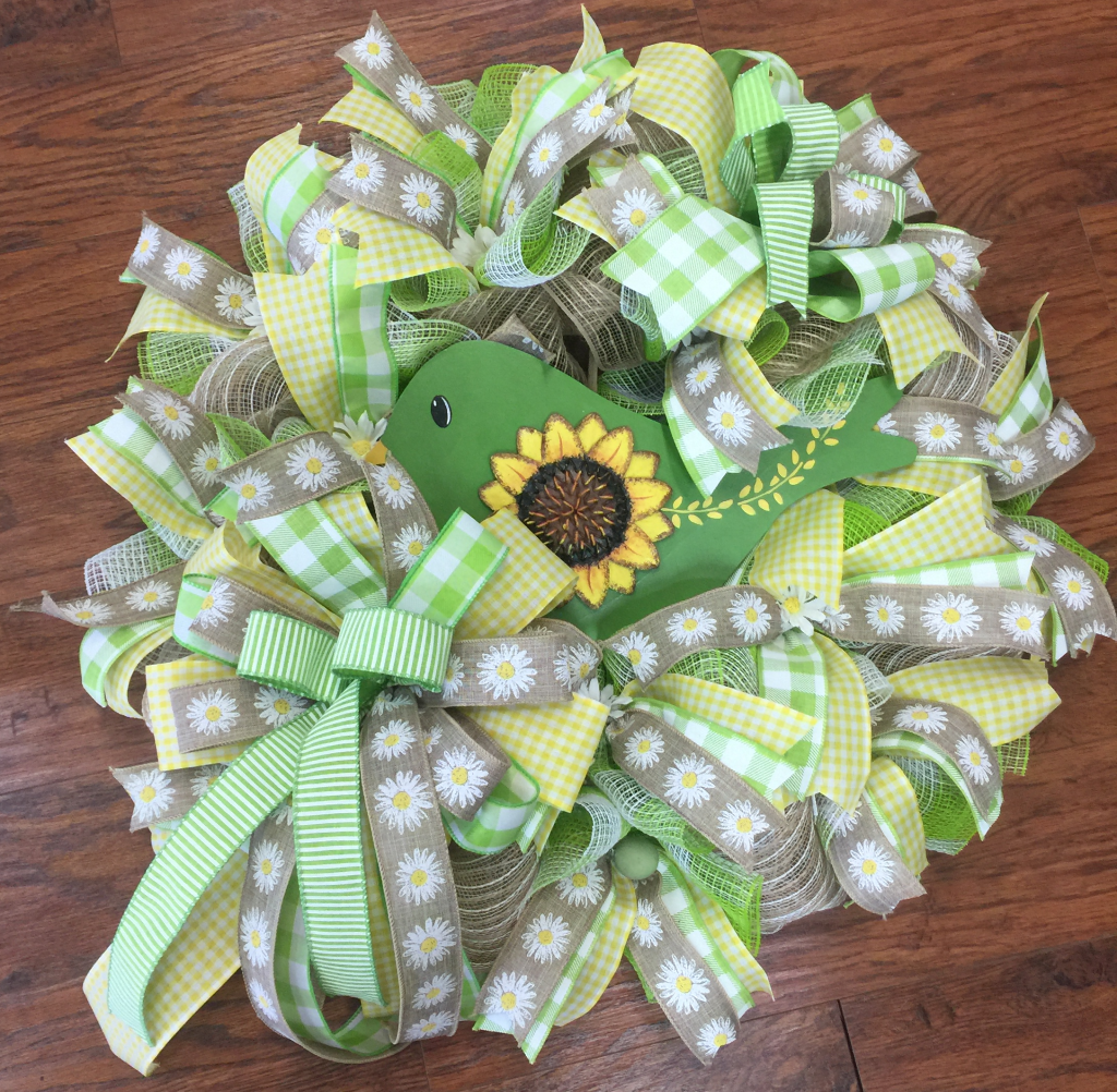 Ribbon Wreath with Accents