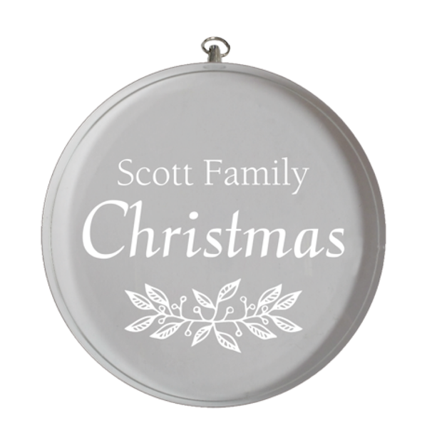 Personalized Crystal Round Ornament